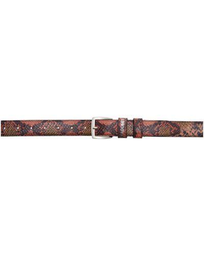 Кожаный черный ремень с пряжкой с поясом Rassvet