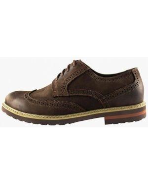 Туфли из нубука - коричневые Faber