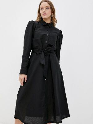 Черное платье рубашка Selected Femme
