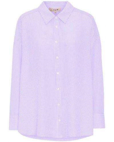 Fioletowa koszula A-view