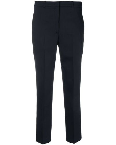 Укороченные брюки на молнии с карманами Jil Sander Navy