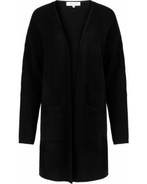 С рукавами кашемировый черный кардиган с карманами Diane Von Furstenberg