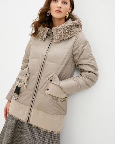 Бежевая теплая зимняя куртка Winterra