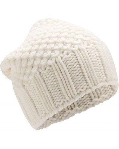 Вязаная шапка белая кашемировая Loro Piana
