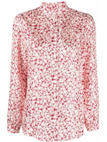 Шелковая белая рубашка с воротником A.p.c.