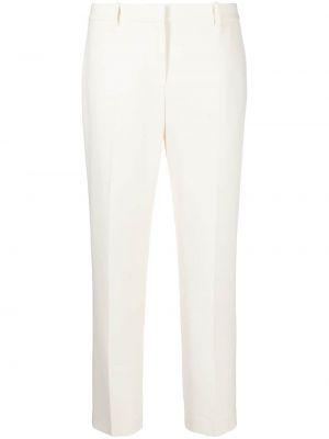 Брючные белые укороченные брюки с карманами Theory
