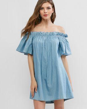 Платье мини через плечо платье-туника Zaful