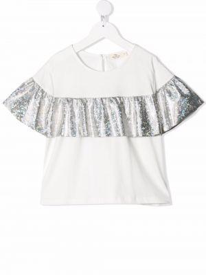 Bluzka srebrna - biała Andorine