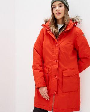 Утепленная куртка осенняя красная Icepeak