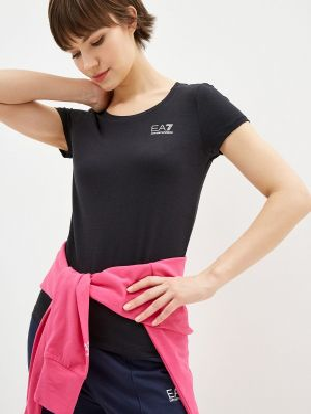 Футбольная черная футболка Ea7