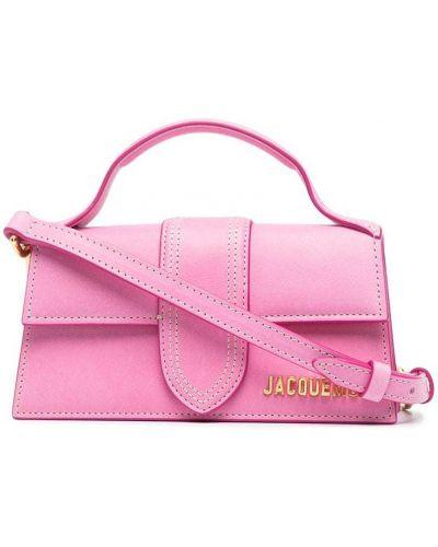Золотистая розовая кожаная маленькая сумка Jacquemus