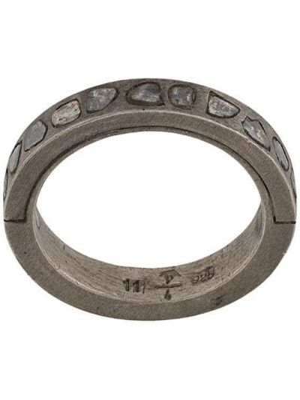 Тонкое серебряное кольцо с бриллиантом Parts Of Four
