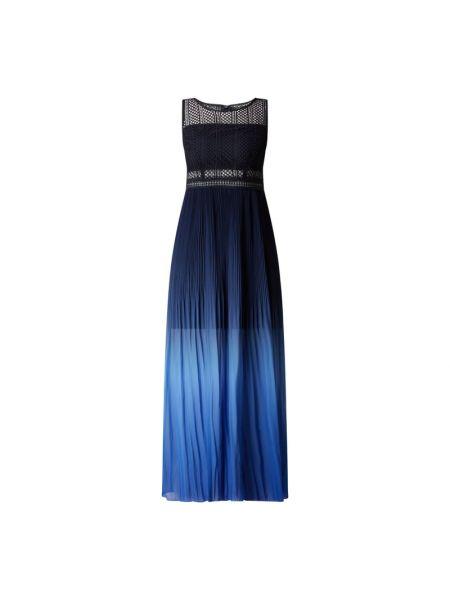 Niebieska sukienka wieczorowa rozkloszowana koronkowa Apart Glamour