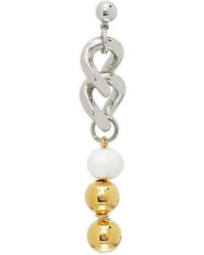 Серебряные серьги золотые с жемчугом In Gold We Trust Paris