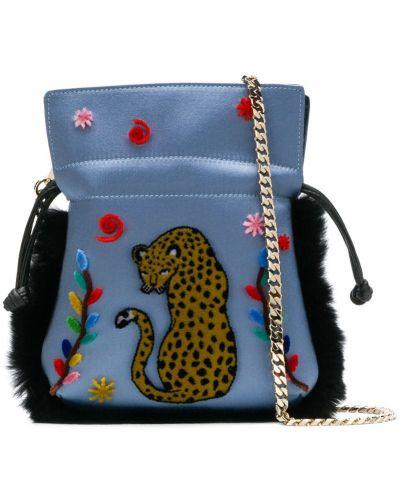 Синяя кожаная сумка Les Petits Joueurs