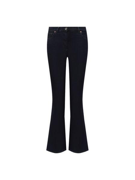Расклешенные джинсы стрейч синие Valentino