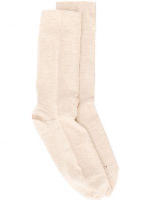 Хлопковые желтые носки стрейч круглые Falke