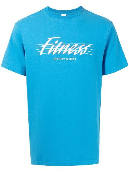 Niebieska koszulka krótki rękaw Sporty And Rich