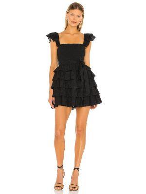 Czarna sukienka mini bawełniana Tularosa