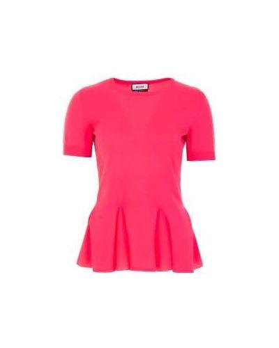 Розовый джемпер летний Moschino