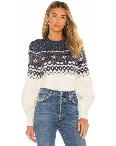 Белый свитер в полоску бохо Minkpink