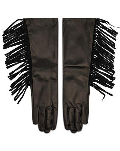 Czarne rękawiczki Twinset
