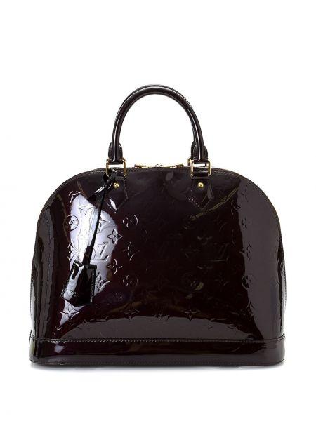 Фиолетовая лаковая кожаная сумка-тоут Louis Vuitton