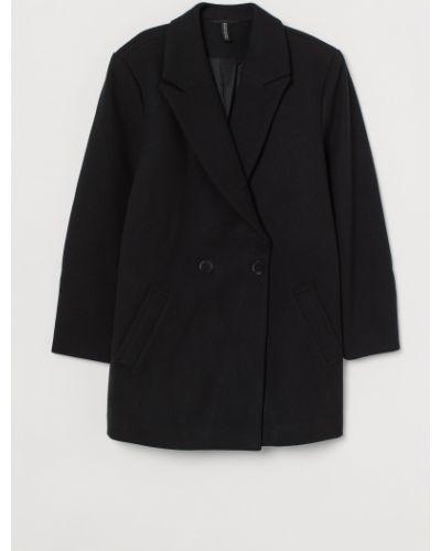 Черный пиджак оверсайз H&m