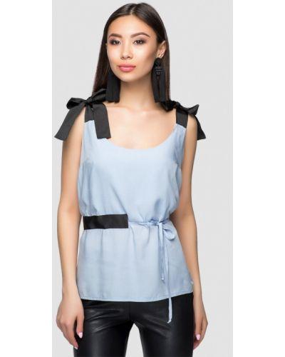 Голубое платье весеннее A-dress