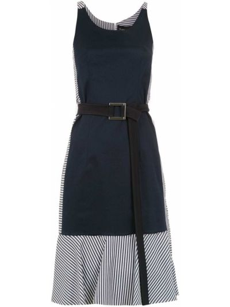 Платье со вставками без рукавов с вырезом узкого кроя Gloria Coelho