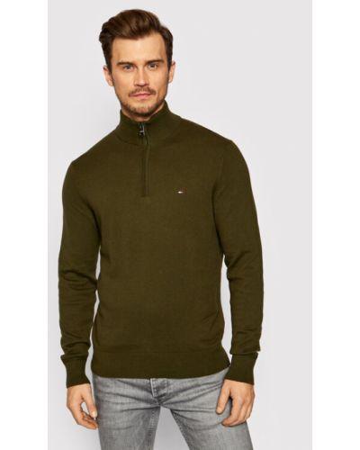Sweter - zielony Tommy Hilfiger