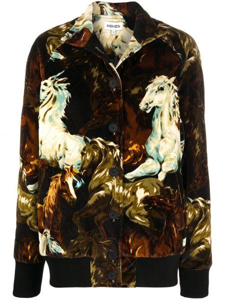 Черная куртка на молнии с воротником Kenzo