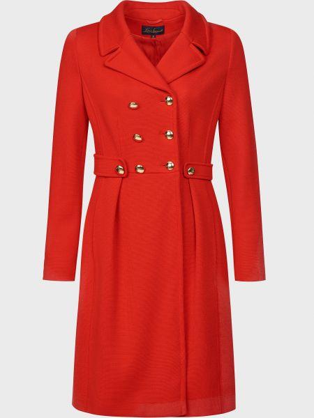Красное шерстяное пальто с капюшоном Luisa Spagnoli