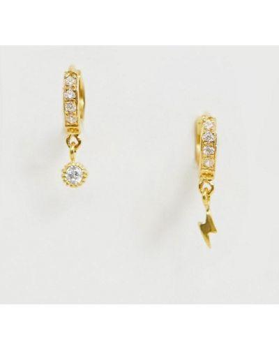 Klasyczne złote kolczyki Asos