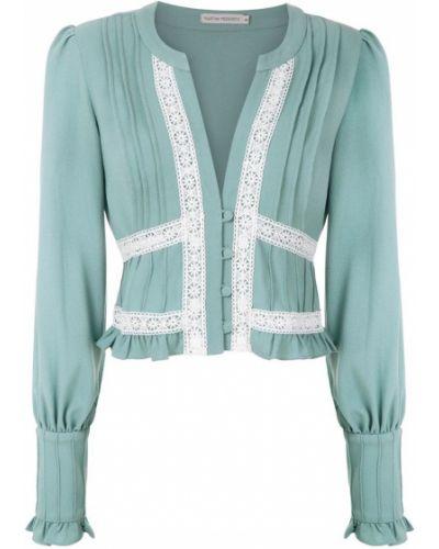 Блузка с длинным рукавом зеленый Martha Medeiros
