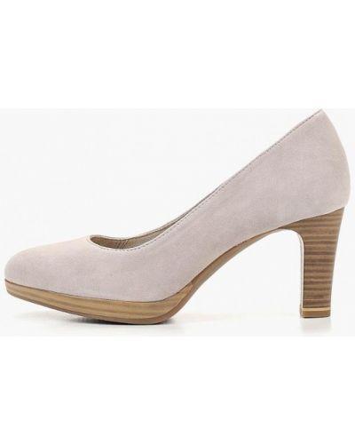 Туфли на каблуке замшевые на каблуке Tamaris