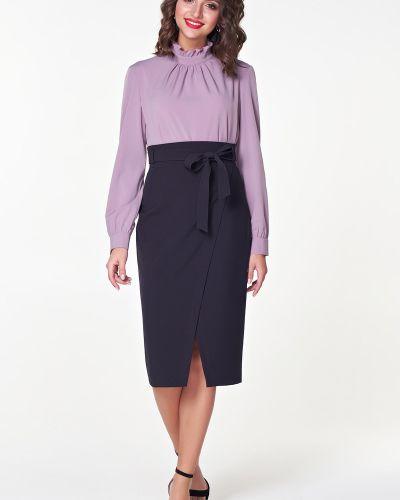 Костюмная юбка с запахом с поясом Valentina