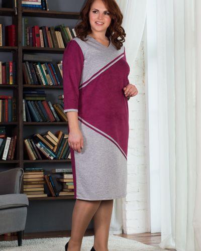 Платье со вставками с V-образным вырезом азалия