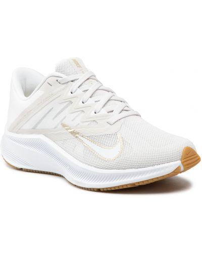 Złote buty sportowe - beżowe Nike