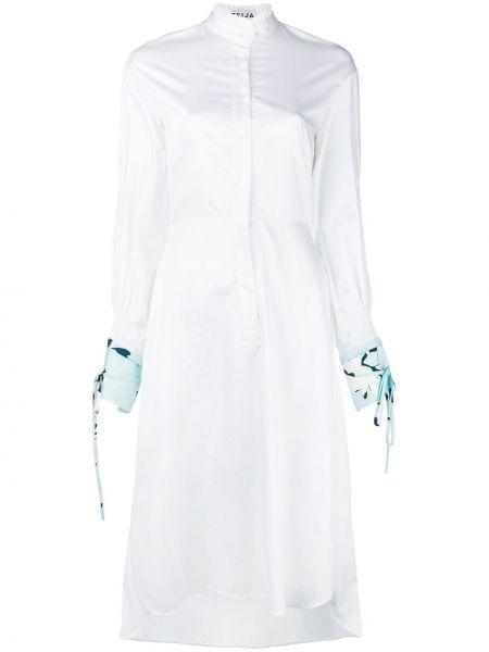 Платье миди с манжетами с разрезами по бокам Teija