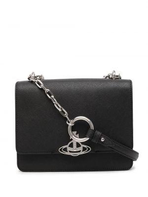 Кожаная сумка - черная Vivienne Westwood