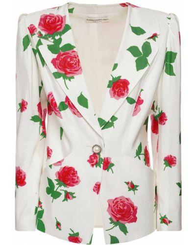 Белая куртка на кнопках с карманами Alessandra Rich