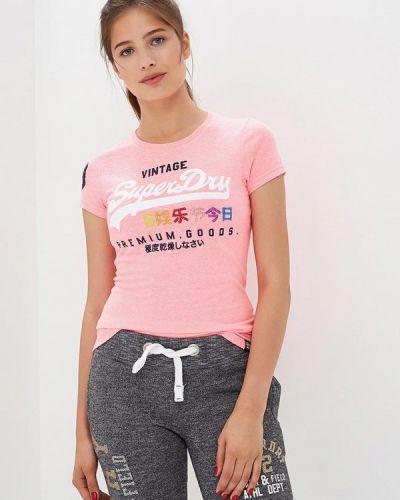 Розовая футболка Superdry