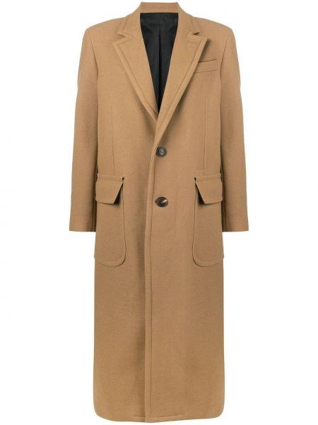 Długi płaszcz trykotowy zapinane na guziki Ami Paris