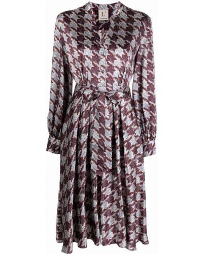 Платье миди с длинными рукавами - белое Lautre Chose