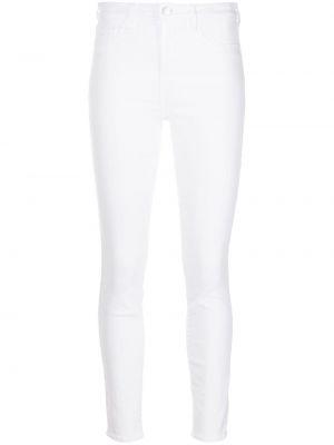 Зауженные белые джинсы-скинни с карманами L'agence