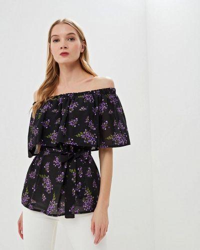 Блузка с открытыми плечами весенний черная Tutto Bene