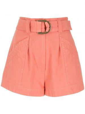 Оранжевые хлопковые шорты Nk