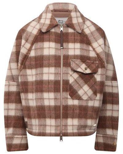 Коричневая куртка из полиамида Woolrich