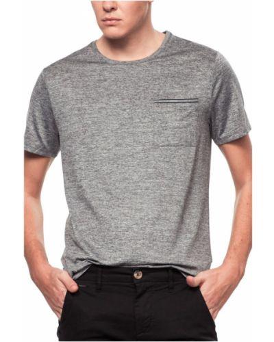 Szara koszula jeansowa krótki rękaw Guess